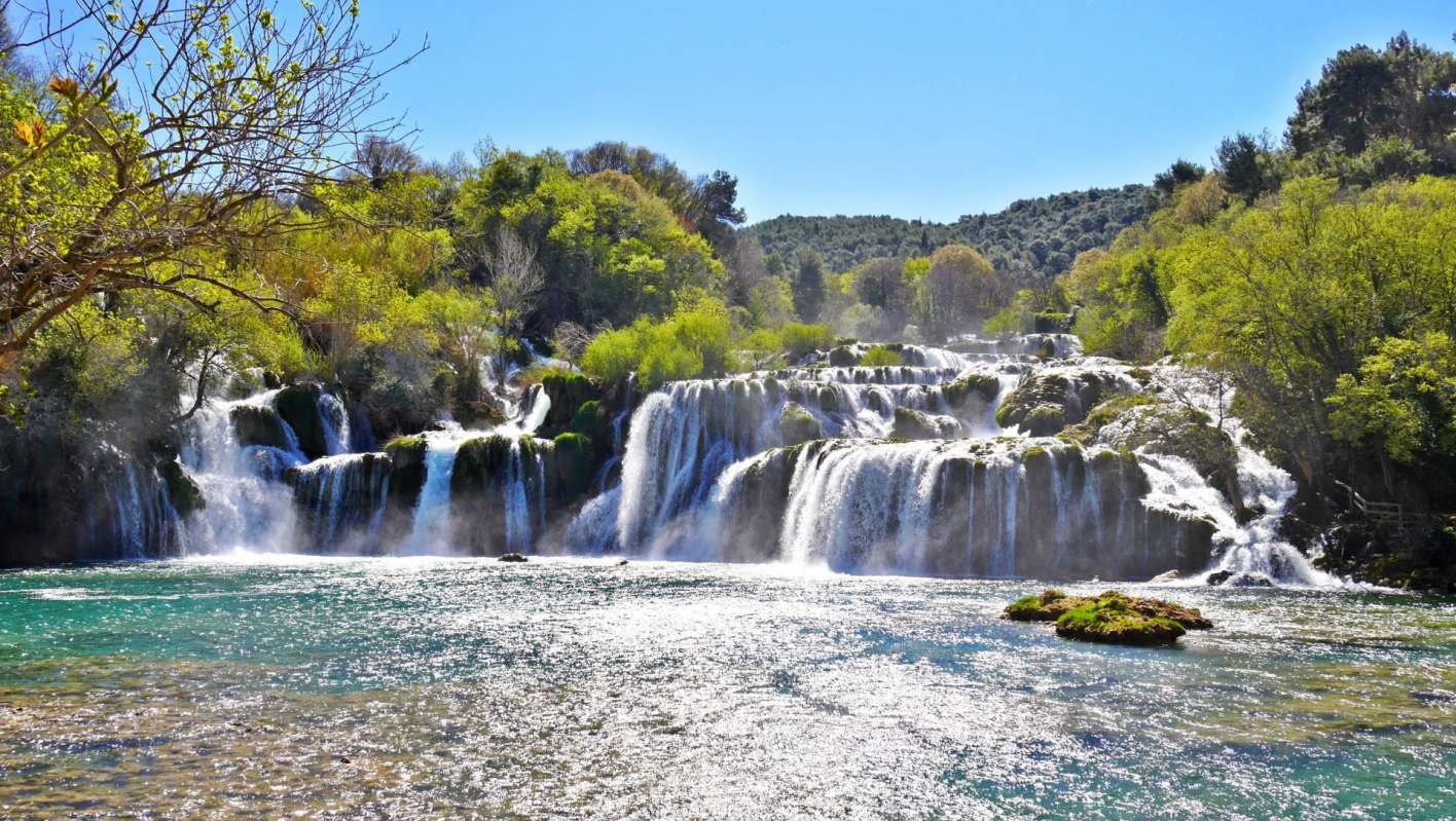 National park Krka Waterfalls